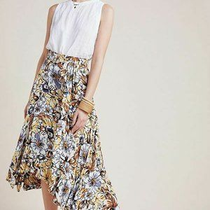 NEW NWT Faithfull the Brand kamares skirt anthropologie floral Printed Sz US 2